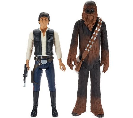 """As Is"" Set of Two 18"" Star Wars Classic Action Figures"