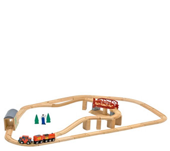 Melissa & Doug Swivel Bridge Train Set - T127749