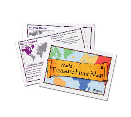 World Treasure Hunt Map by Learning Resources