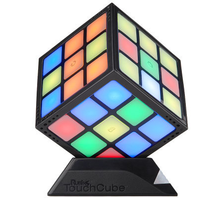 rubik 39 s touch electronic led lit puzzle cube w charging base. Black Bedroom Furniture Sets. Home Design Ideas