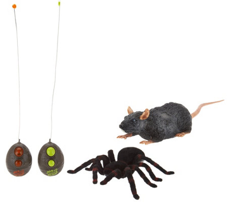 Set of Two Remote Controlled Tarantula & Rat By:Uncle Milton