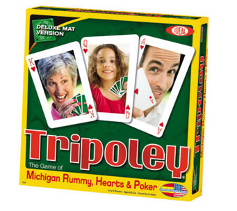 Ideal Tripoley Deluxe Mat Edition Card Game - T124354