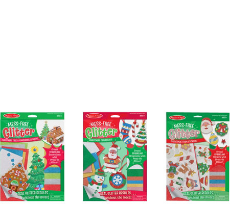 Melissa & Doug Holiday Let's Play Mess-Free Glitter Bundle