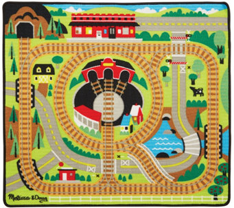 Melissa & Doug Round the Rails Train Rug - T127657