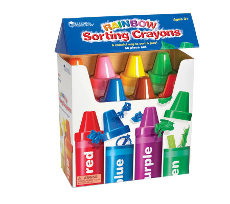 Rainbow Sorting Crayons by Learning Resources