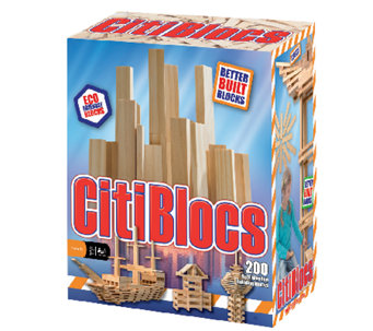 Alex Brands CitiBlocs 200-Piece Natural Wood Set - T127261
