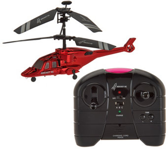 Chrome Flyer Indoor RC Helicopter w/ Additional Parts - T34261