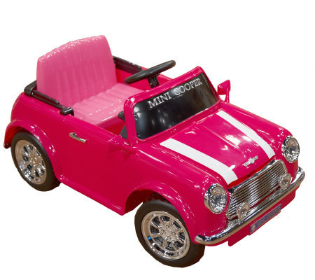 mini cooper 6v battery operated ride on car w fm radio. Black Bedroom Furniture Sets. Home Design Ideas