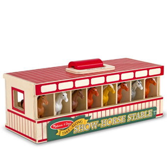 Melissa & Doug Take-Along Show-Horse Stable - T127765