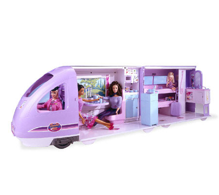 Barbie Travel Train Playset Qvc Com