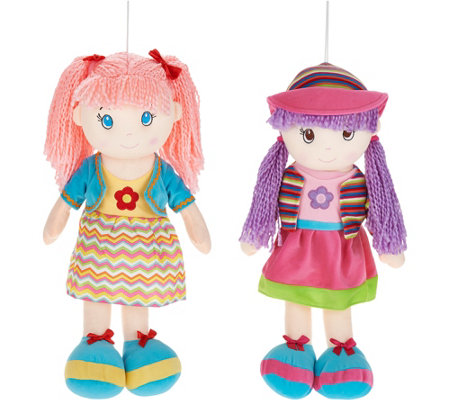 "Lollipop Kids Set of 2 20"" Soft-Bodied Dolls"