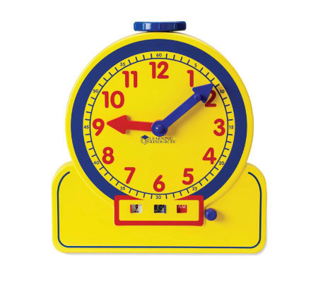 Primary Time Teacher 12HR Learning Clock by Learning Resource