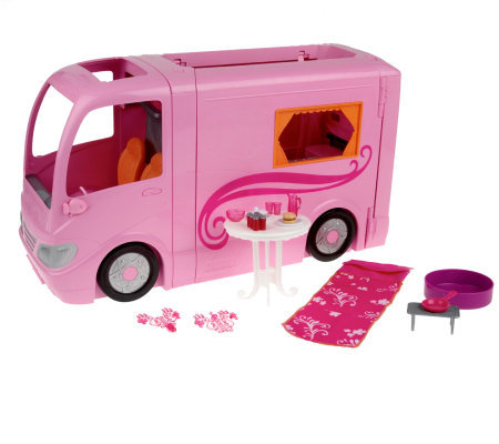 barbie glamour camper vehicle playset w accessories by mattel. Black Bedroom Furniture Sets. Home Design Ideas