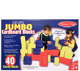 Melissa & Doug 40-PC Deluxe Jumbo Cardboard Blocks - T127571