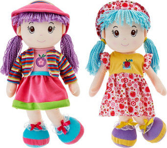 "Set of Two Lollipop Kids 20"" Soft Bodied Rag Dolls - T34273"