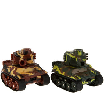 Set of Two Mini Tanks With Infrared Auto Motion - T34178