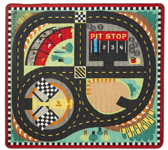 Melissa & Doug Round the Speedway Race Track Rug - T127579