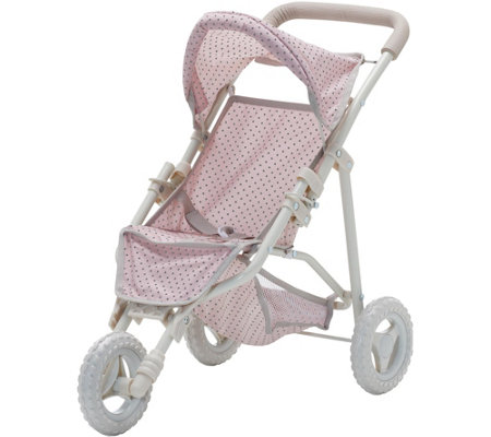 Olivia's Little World Polka Dots Baby Doll Jogging Stroller