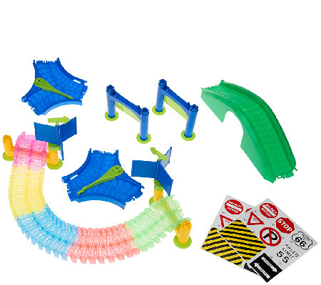 Twister Trax Glow Track & Accessory Set w/ Bridge & Tunnel