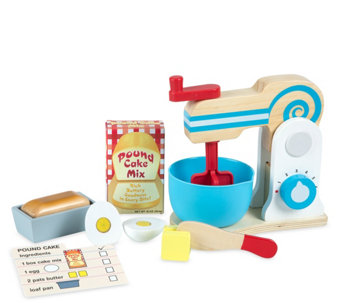 Melissa & Doug Wooden Make-a-Cake Mixer Set - T127781