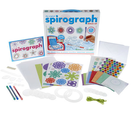 The Original Spirograph Deluxe Set with Bonus Card Making Kit