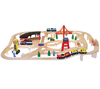 Melissa & Doug Wooden Railway Set - T127183