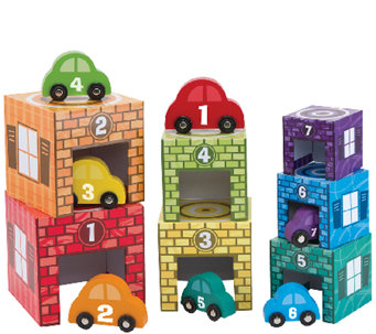 Melissa & Doug Nesting and Sorting Garages & Cars - T127583