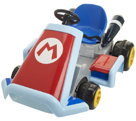 super mario kart 6v battery operated ride on vehicle. Black Bedroom Furniture Sets. Home Design Ideas