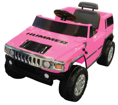 6V Pink Hummer Battery Operated Ride-On