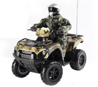 KidzTech 1:6 Scale RC Kawasaki Brute Force 750Quad in Camo - T127285