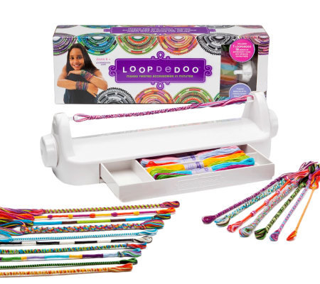 Loopdedoo Spinning Loom Kit with 36 Skeins of Thread &Storage