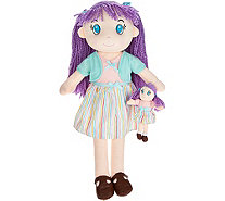 "Lollipop Kids 27"" Doll with Matching Mini Travel Doll - T34985"