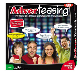 Ideal Adverteasing Trivia Board Game - T124386