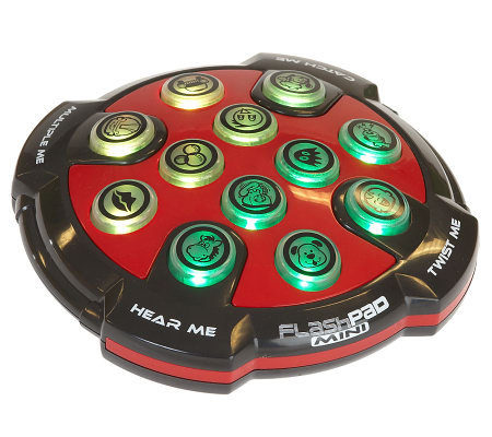 Mini Flash Pad Hand Held Electronic Game W Light Amp Sound