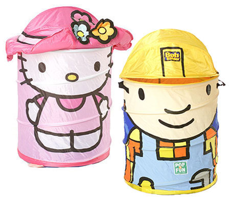Bob the Builder or Hello Kitty Pop-Up Storage Hamper