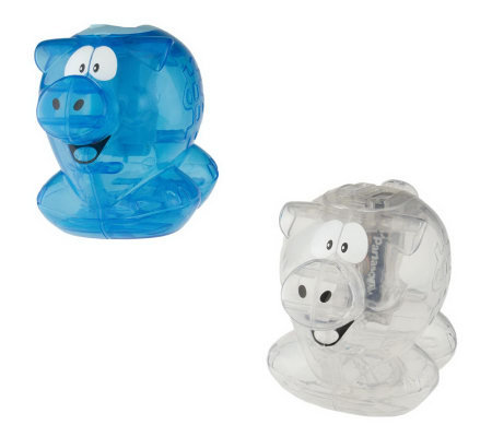 Set of 2 electronic counting piggy banks w coinrecognition page 1 - Counting piggy bank ...