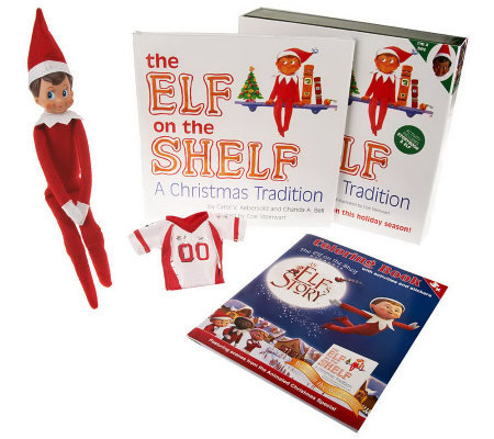 """The Elf on the Shelf"" A Christmas Tradition Book & Elf Gift Set"