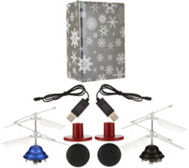 S/2 Light-Up Hovering Lev-i-copters w/ Gift Wrap