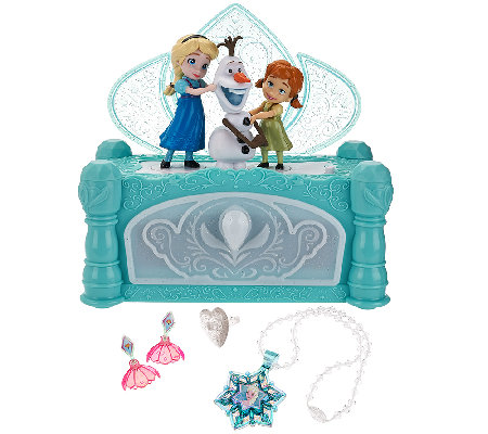 disney s frozen musical jewelry box page 1 qvc