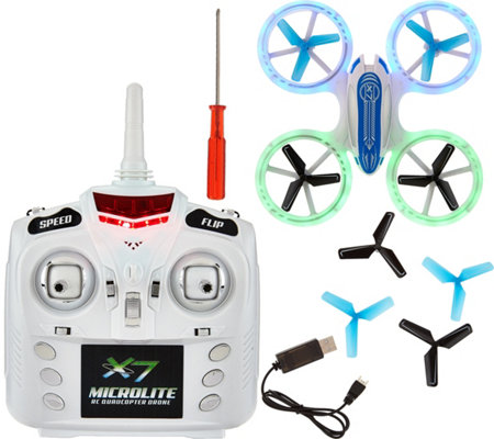 Odyssey X-7 Microlite Quadcopter with Illuminated Blade Guards