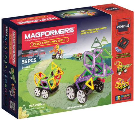Magformers Zoo Racing 55-Piece Set