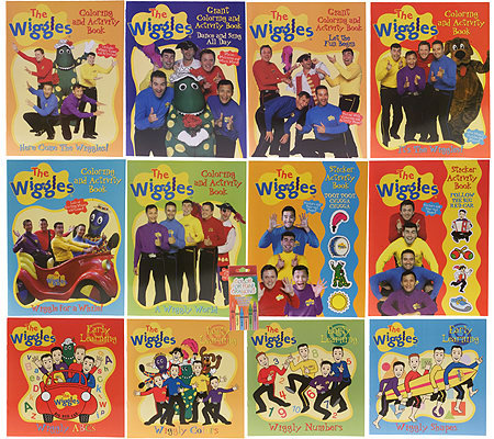 The Wiggles 13 Piece Color And Activity Books