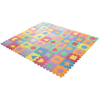 Hey! Play! Foam Floor Shapes Puzzle Learning Mat - T127799