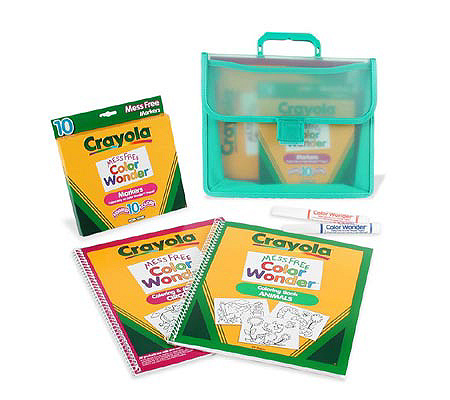 Crayola Color Wonder Coloring Book And Case Set QVC