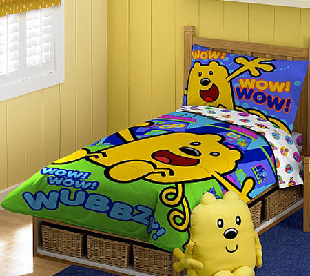 wow! wow! wubbzy! toddler bed set — qvc