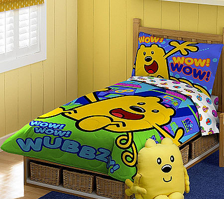 Wow! Wow! Wubbzy! Toddler Bed Set — QVC.com