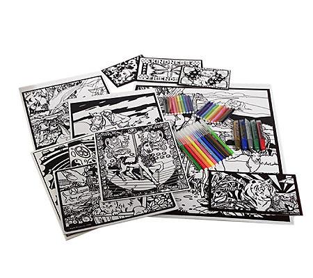 vivid velvet 45 piece velvety art coloring kit qvccom - Velvet Coloring Book