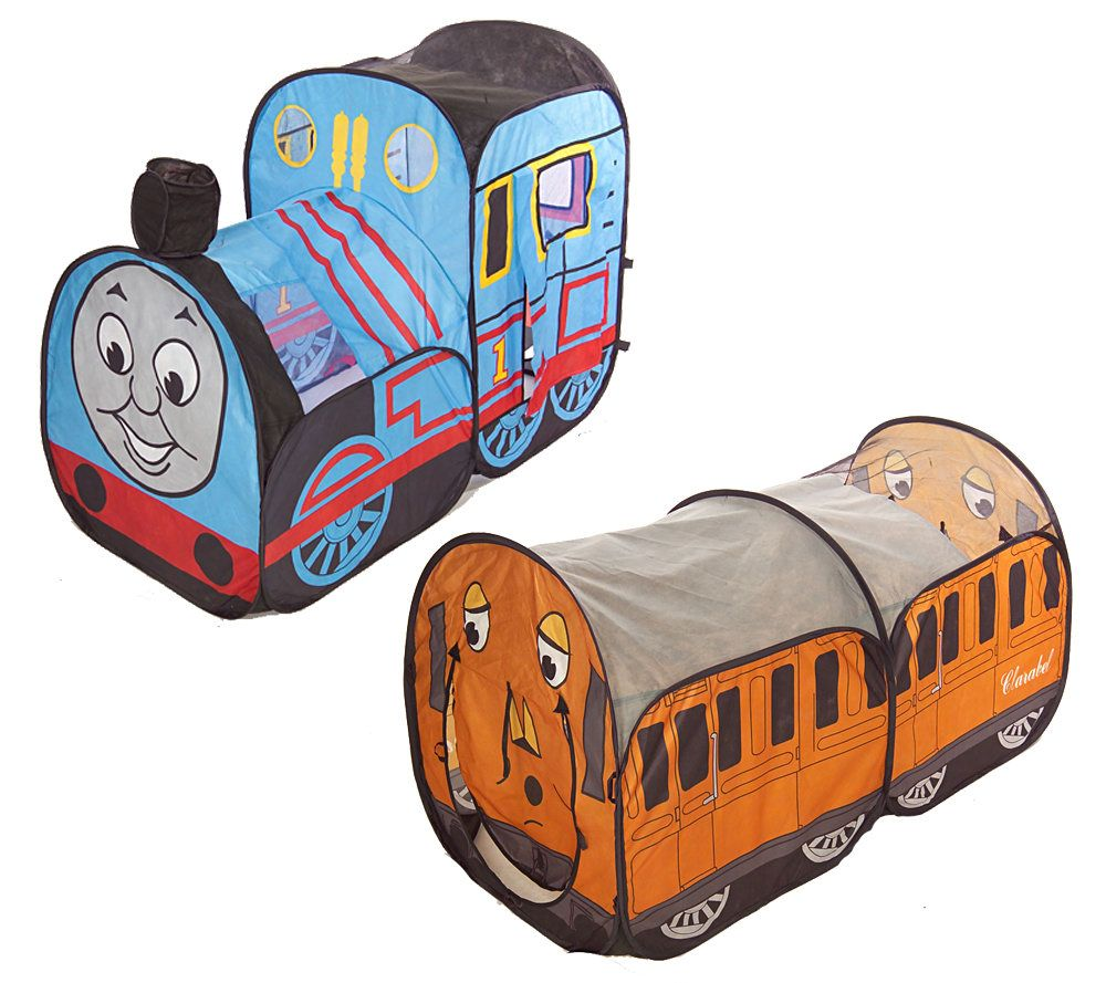 Thomas the Tank Playhut Pop-Up Tent w/ Annie/Clarabel Caboose - Page 1 u2014 QVC.com  sc 1 st  QVC.com & Thomas the Tank Playhut Pop-Up Tent w/ Annie/Clarabel Caboose ...