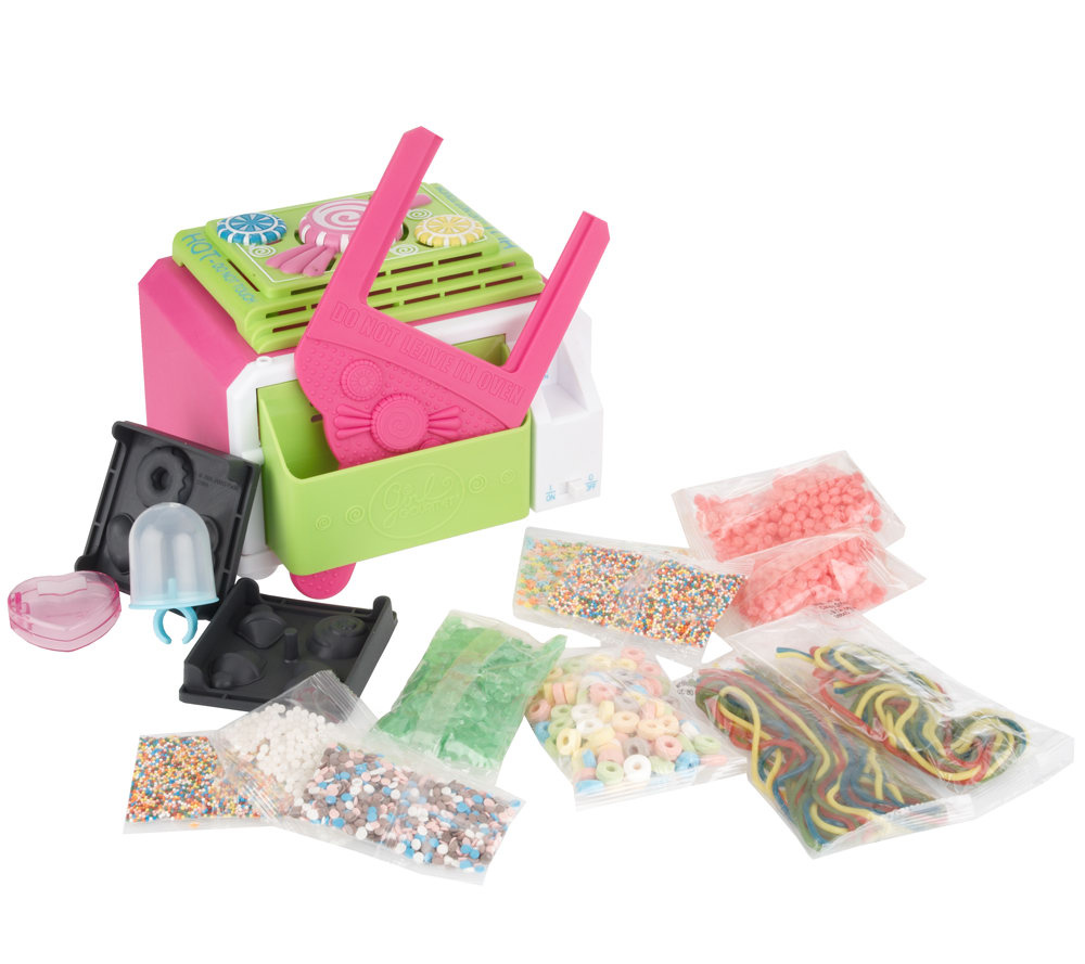 girl gourmet edible candy jewelry maker w candy pieces