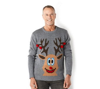 Absolutely Famous Men's Reindeer Christmas Jumper - 155500